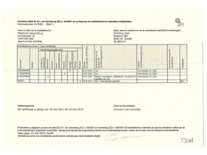 Skal certificaat Nederlands